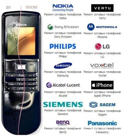 Ремонт мобильных телефонов в Ангарске